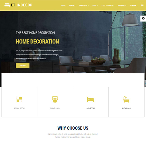 ET Indecor Joomla Interior Design Template