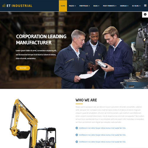 Industrial Joomla Template by Engine Templates