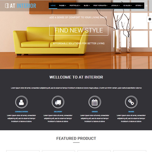 download free at interior joomla furniture template