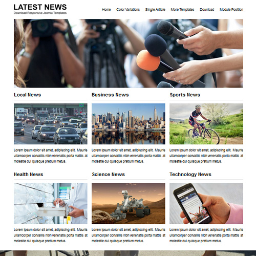 JSR Latest News Responsive Joomla Template