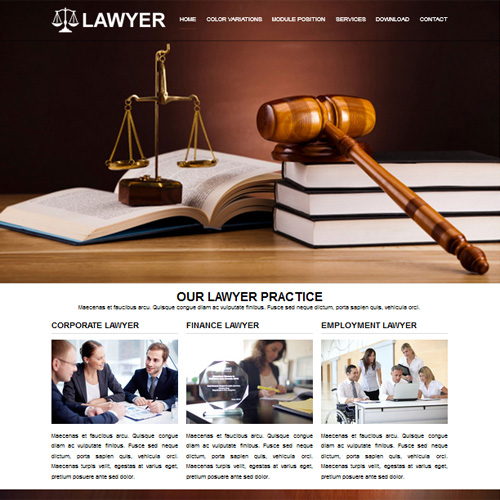 RT Lawyer Responsive Joomla Law Firm Legal Template