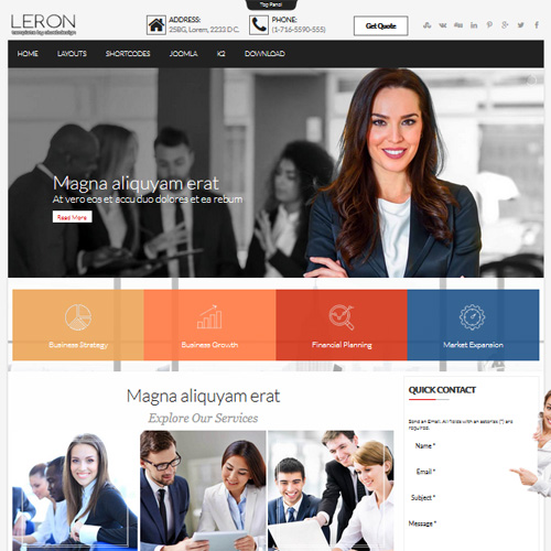OL Leron Business Joomla Template
