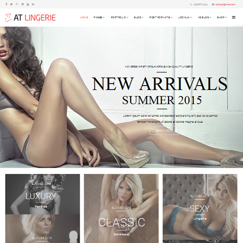 AT Lingerie Joomla Template