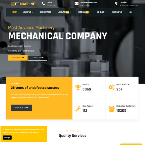 ET Machine Responsive Joomla Template