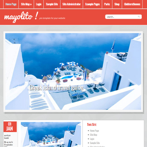 Mayolito Red Joomla Template
