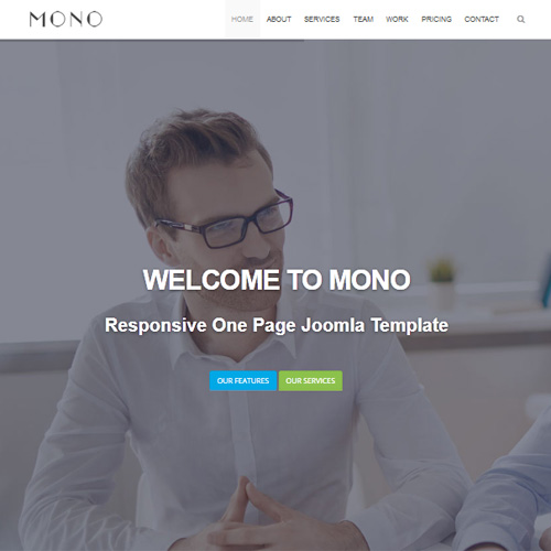 JL Mono Onepage One Page Joomla Template