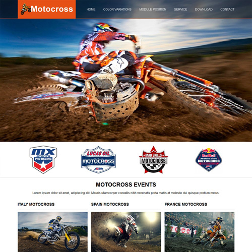 Motocross Joomla Template by Rush Themes