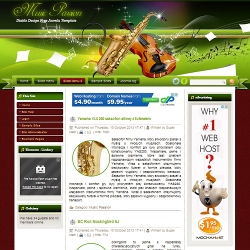 DD Music Passion Joomla Template