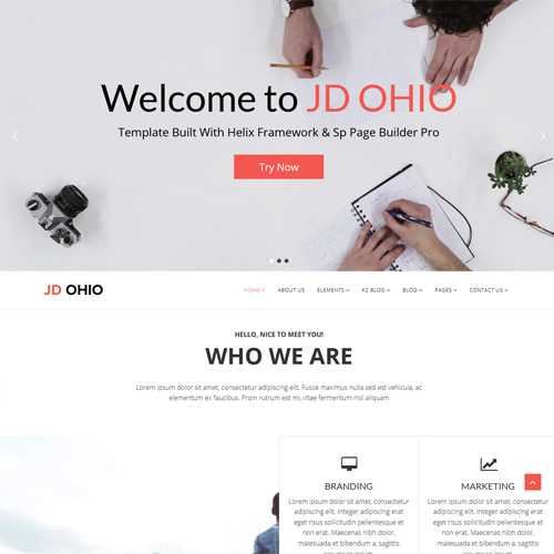 JD Ohio Responsive Joomla Template