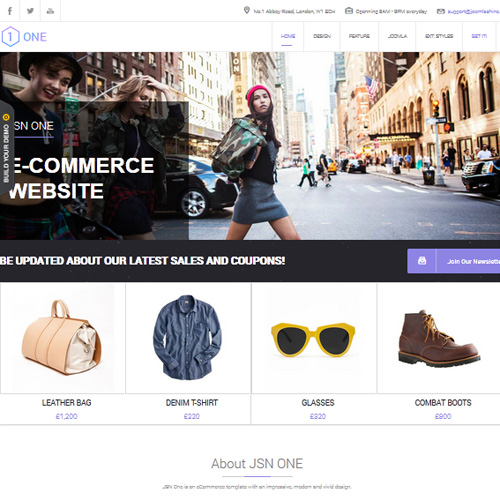 JSN One Joomla eCommerce Template for J2Store