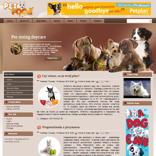 DD Pet Food Joomla Template