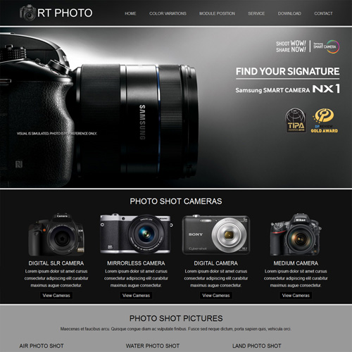 Photo Responsive Joomla Photography Template by Rush Themes