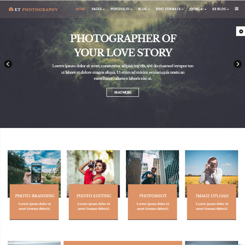 ET Photography Joomla Template
