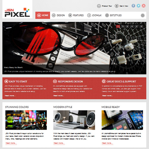JSN Pixel 2 Joomla Template for Easyblog