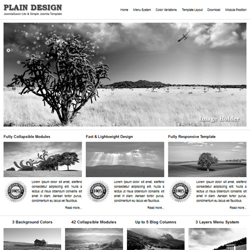 JSR Plain Design Joomla Multipurpose Template