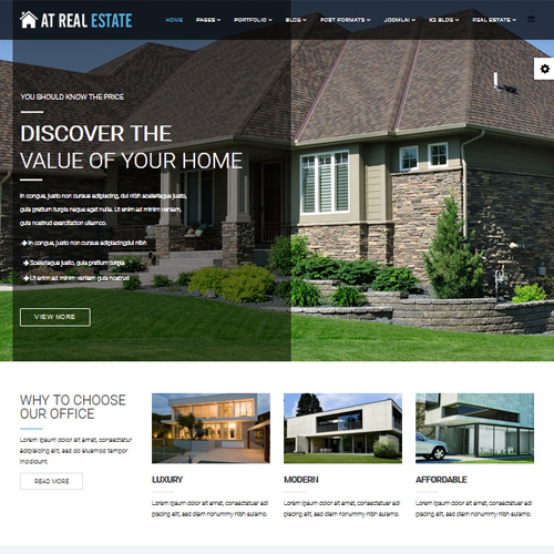 Free Real Estate Templates | Download Free At Real Estate Joomla Template