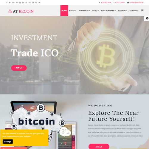AT ReCoin Responsive Joomla Template