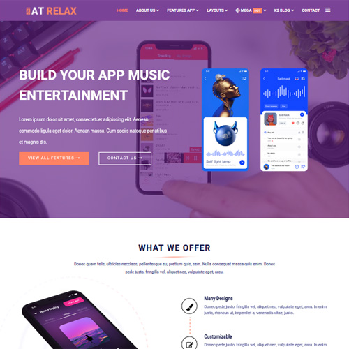 AT Relax Responsive Joomla Template