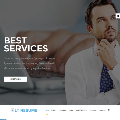 download free lt resume joomla template