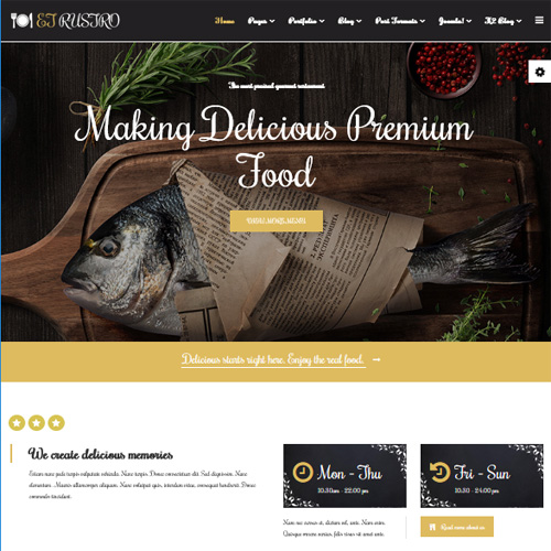 Rustro Joomla Restaurant Template by Engine Templates