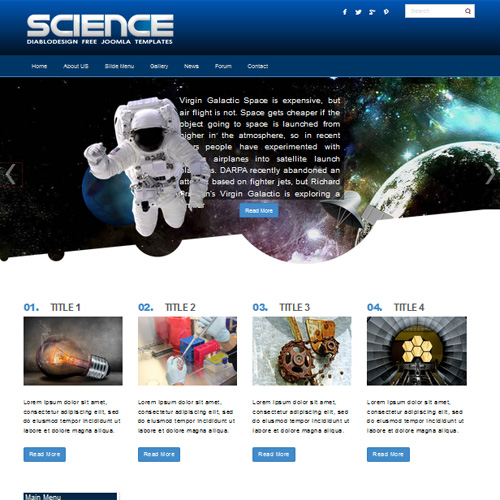 download free dd science joomla template