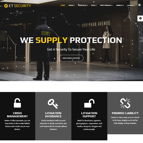 ET Security Joomla Template