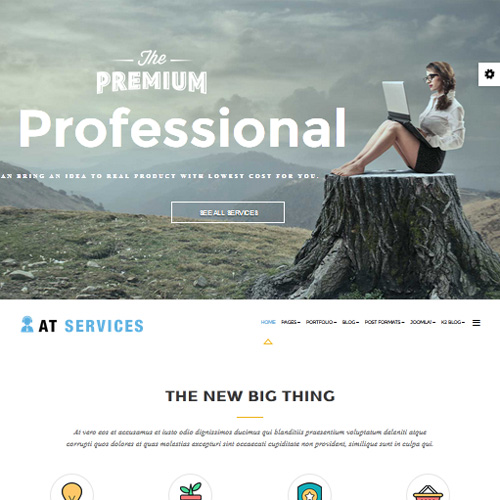 AT Services Onepage Responsive Onepage Joomla Template