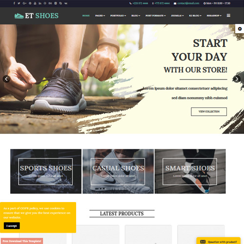 ET Shoes Responsive Joomla Template