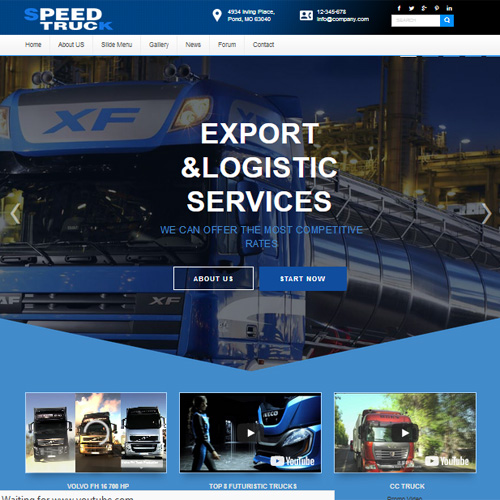DD Speed Truck Joomla Template
