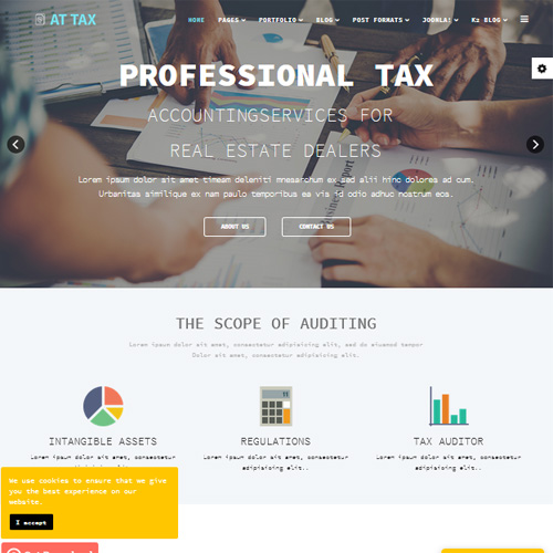 AT Tax Responsive Joomla Template