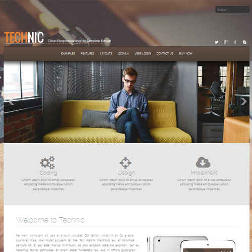 Technic Joomla Template by Joomlage