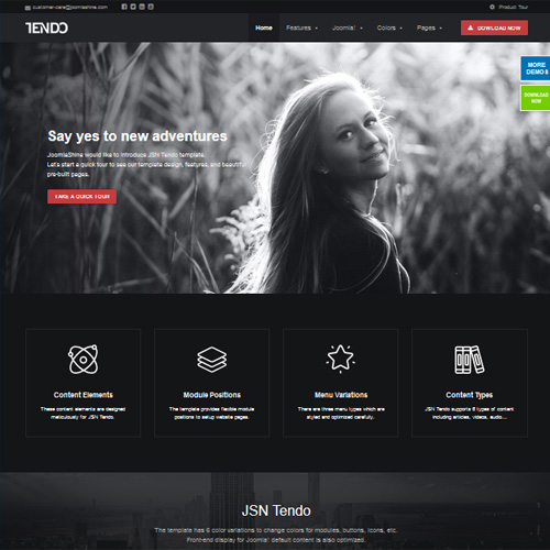 JSN Tendo 2 Joomla Photography Template