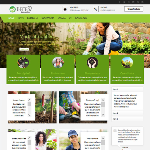 TC Theme 39 Planting Joomla Template