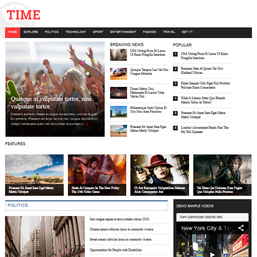 Download Free JSN Time Joomla News Template - E news template