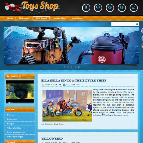 DD Toys Shop Joomla Template