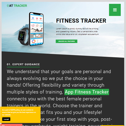 AT Tracker Responsive Joomla Template