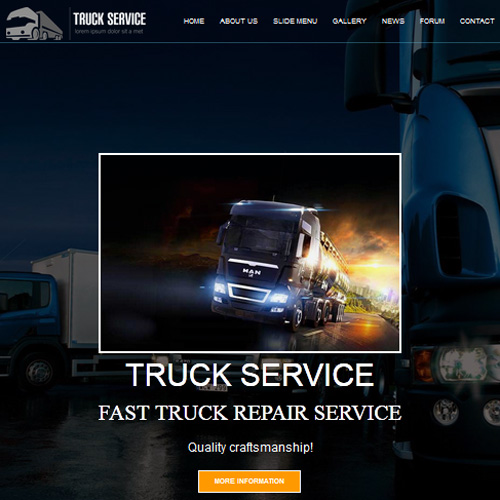 download free dd truck service joomla template
