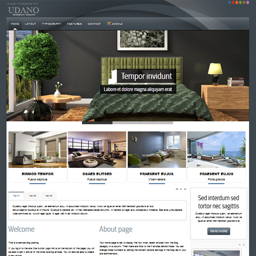 TD Udano Joomla Interior Design Template