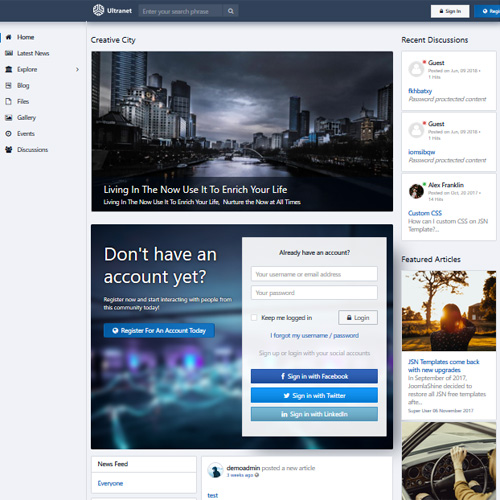 JSN Ultranet Joomla Template