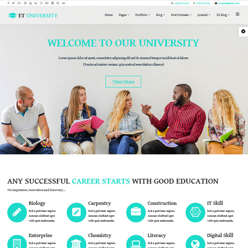University Joomla Template by Engine Templates