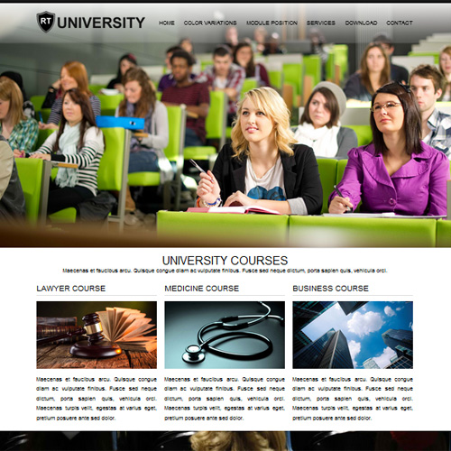 RT University Responsive Joomla Education Template