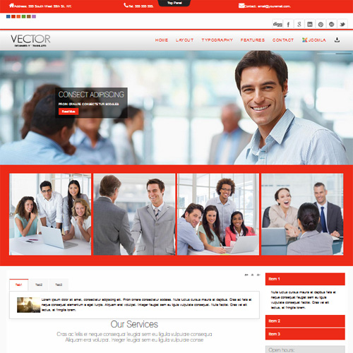 Vector Joomla Template by JoomlaTD