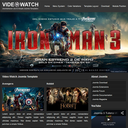 Video Watch Joomla Template by Joomla Saver