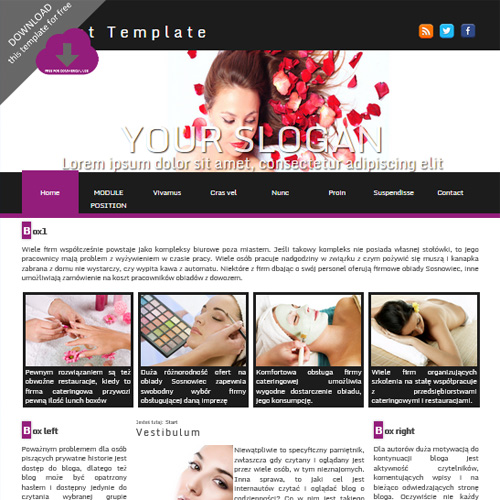 Violet Joomla Template by FX Design