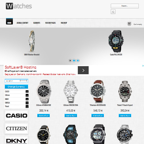 Watches Joomla Template by OrdaSoft