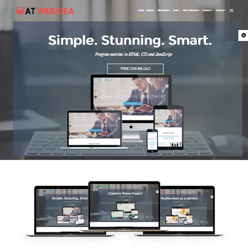 AT Web Idea Onepage Responsive Onepage Joomla Template