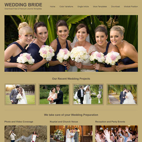 Wedding Bride Responsive Joomla Template by Joomla Saver