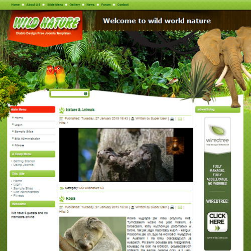 DD Wild Nature Joomla Template