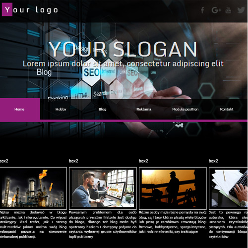 FX Work Black Template Joomla Template