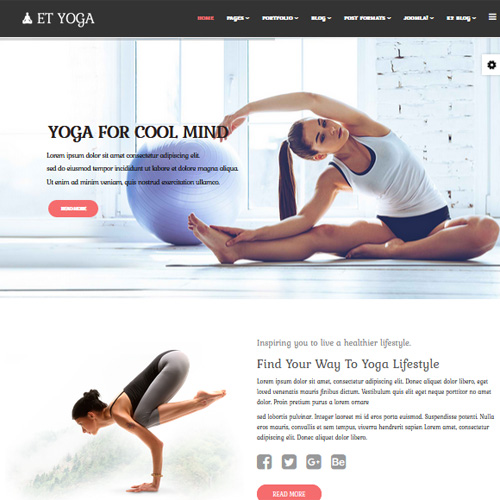 Yoga Joomla Template by Engine Templates